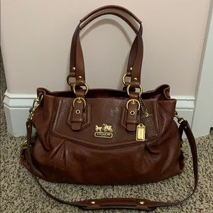 Coach handbag Brown Leather Excellent used cond